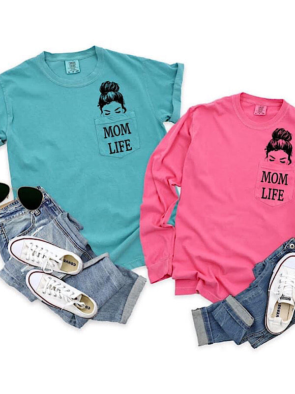*Preorder* Mom Life Pocket Tee