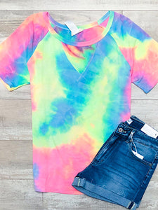*New* Tie dye short sleeve top