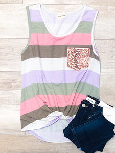 *New* Multi Color side knot tank