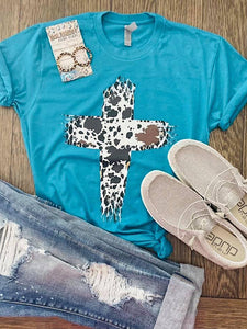 *Preorder* Cow Print Cross (S-3xl)