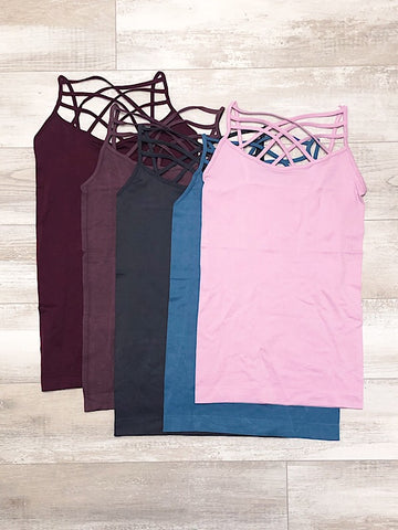 Criss Cross Strap Tank Top
