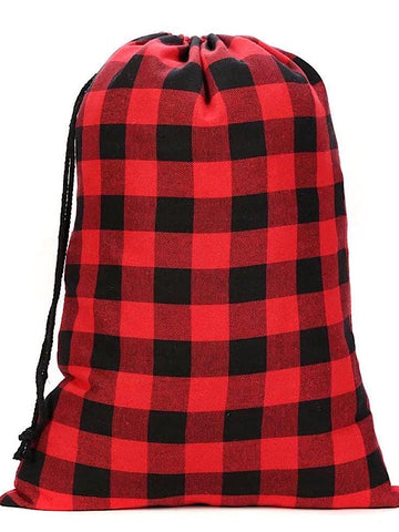 *BlackFridayDoorbuster* Red buffalo plaid sack