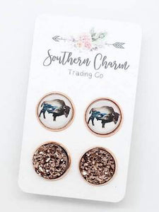 *Preorder* Buffalo duo earrings