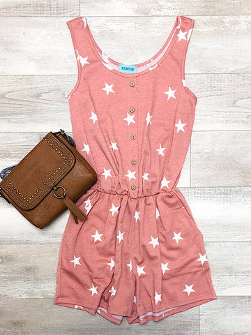 *New* Mauve Star Romper