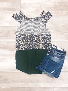 Olive Leopard Tank Top