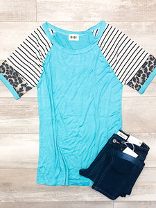 *New* Mint Sleeve top
