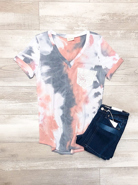 Pink and Gray Tie Dye