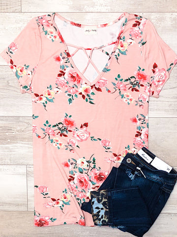 *New* Adele Floral Criss Cross top