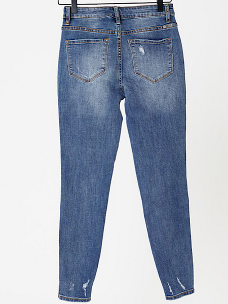 *New* Kancan Distress Slit Jeans