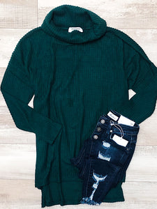 *BlackFridayDeal* Hunter green cowl neck sweater