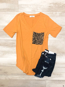 *New* Ash Mustard Leopard top