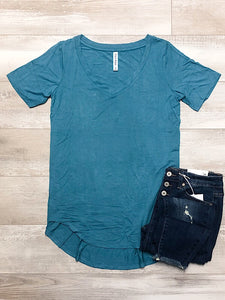*New* Dusty Teal Short sleeve - Araly's Boutique