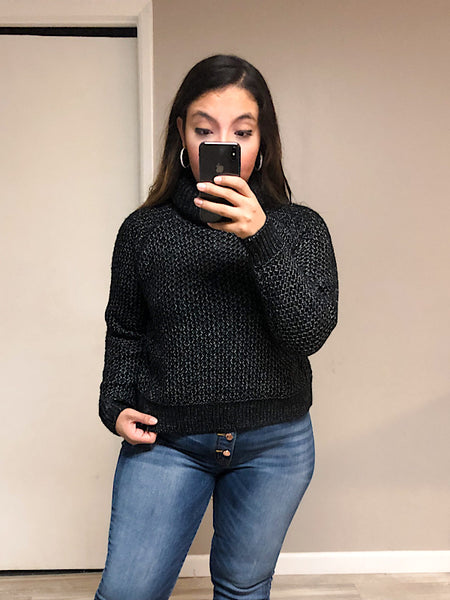*New* Black Cowl Neck Sweater