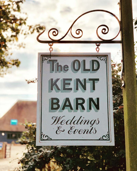 The Old Kent Barn sign