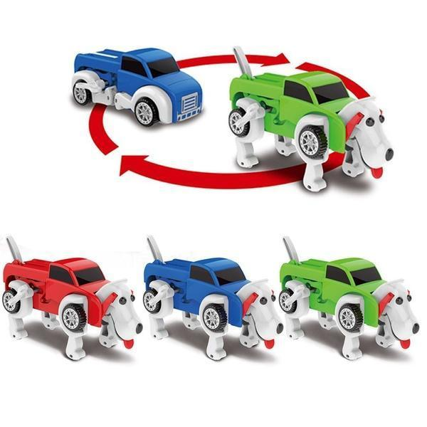 Dog Transformer Wind-Up Toy Truck