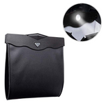 Car Garbage Bin PU Leather Car back Hanging Storage Box Magnetic with LED Light(BUY TWOFREE SHIPPING)