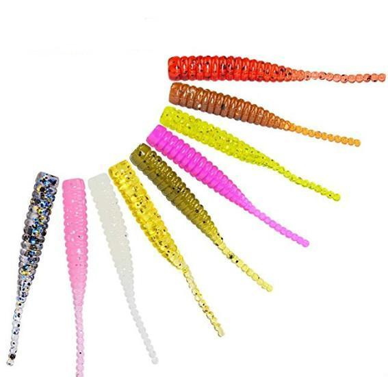 15pcs/bag Afishlure Single Tail Soft Bait 38mm 0.36g