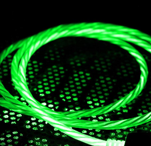 Phone Charger Cable,Visible Flowing LED Light Flashes Fast Charging Cable
