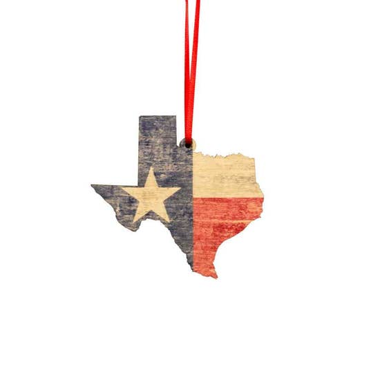 Texas Flag Holiday Ornament
