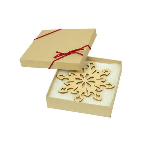Birch Snowflake Ornaments - Set of 4 - Clearance