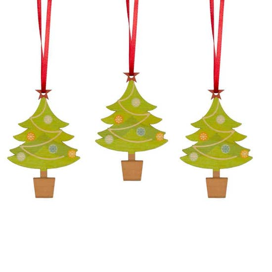 Christmas Tree Ornaments - Set of 6