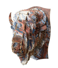 Billy the Small Cardboard Bison Head-Alaska Topographical-Clearance