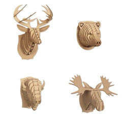 Micro Animal Heads (Set of 3)