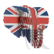 Eyan the Cardboard Elephant Union Jack - Small - Clearance