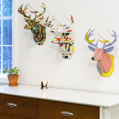 Art Print Animal Heads- Deer