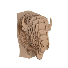 Billy Cardboard Bison Head
