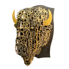 Leah Yellowbird Cardboard Printed Animal Heads- Bison