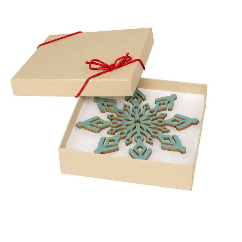 Snowflake Holiday Ornaments ( Blue )
