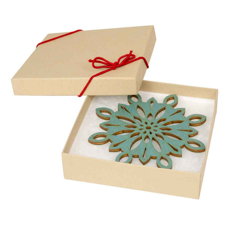Snowflake Holiday Ornaments ( Blue ) - Set of 4