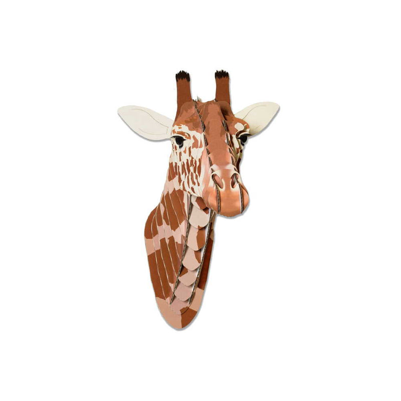 Lifelike Cardboard Animal Heads-Set of 4