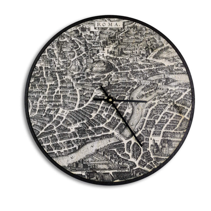 Wall Clock Birch - Rome Map-Clearence(Master)