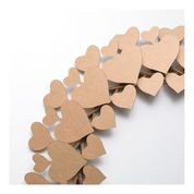 Brown Cardboard Heart Wreath - SECOND