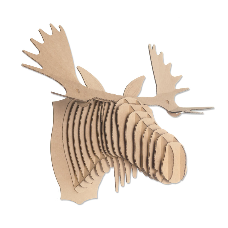 Fred Cardboard Moose Head antlers