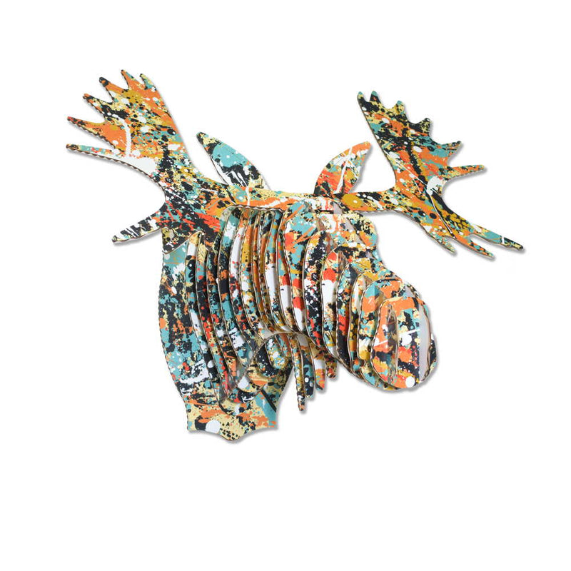 Leah Yellowbird Birch Printed Animal Heads- Bear