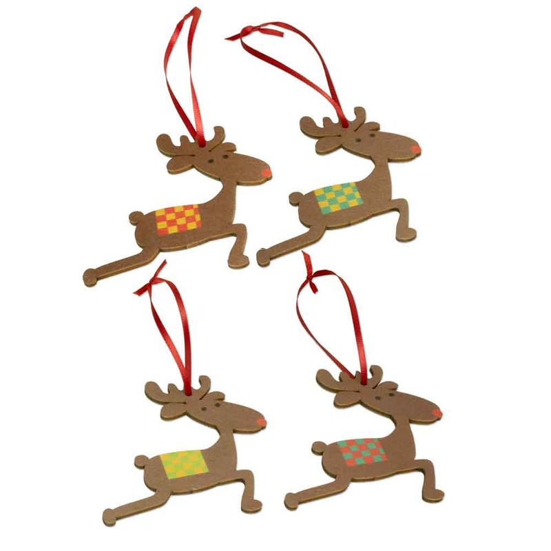 Reindeer Holiday Ornaments