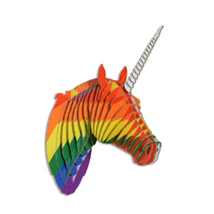 Merlin Rainbow Cardboard Unicorn Head