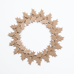 Cardboard Heart Wreath