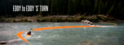 How to do an S-Turn - Part 2 - Eddy to Eddy - Intermediate Kayak Instructional Video