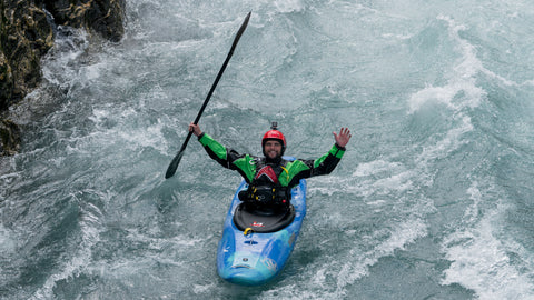 beginner whitewater kayaker