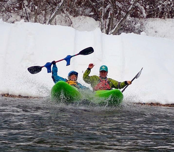 Snow seal launch in kayaks lee vincent