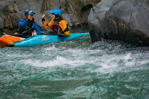 progressing in whitewater kayaking