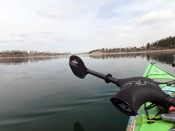 Early season kayaking Glenmore Reservoir - Paul Kolman