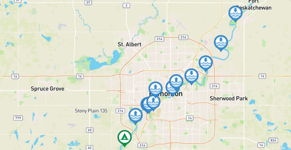 Where to paddle on the North Saskatchewan in Edmonton