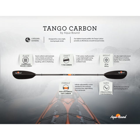Aquabound Tango Carbon Kayak Paddle-AQ-Outdoors