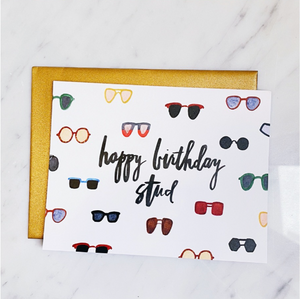 Greeting Card - Happy Birthday Stud