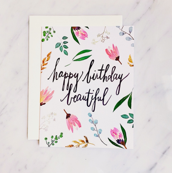 Greeting Card - Happy Birthday Beautiful